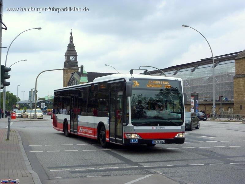 HOCHBAHN, Wagen 6101 bis 6102, Typ MB O 530, Baujahr 2011/6102-11,HHA,JN